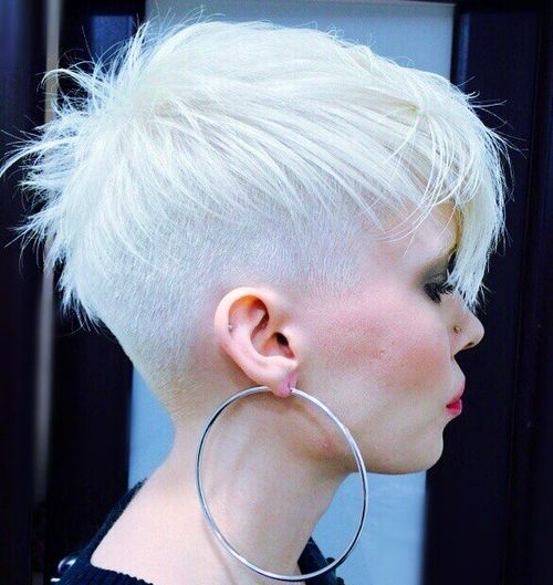 silver blonde undercut hairstyle
