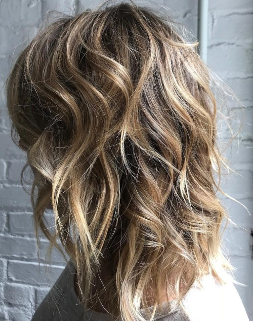 Layered Messy Bronde Cut