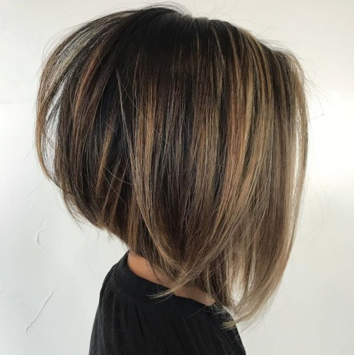 Stacked Bob For Straight Thick Hair