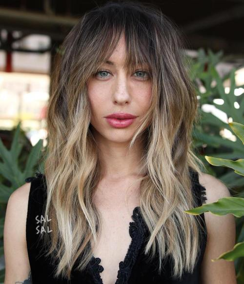 Long Layered Bronde Balayage Hair