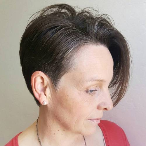 Short Side-Parted Cut With Long Bangs