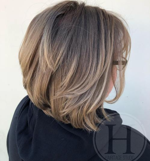 Bronde Layered Bob Hairstyle