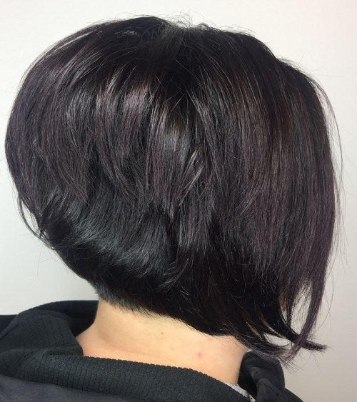 Black Bob With A Burgundy Tint