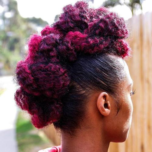 braided mohawk for African American women