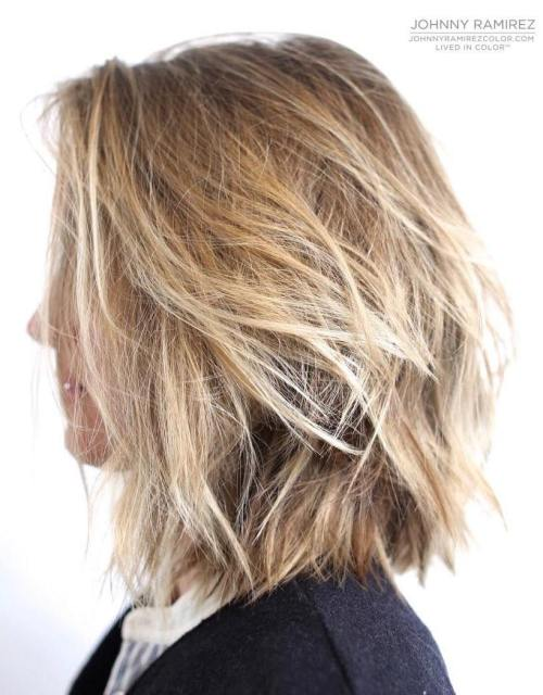 Shaggy Shoulder-Length Bob