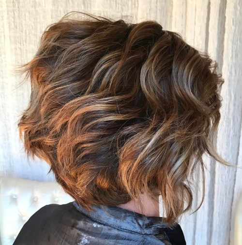 Short Layered Wavy Bob