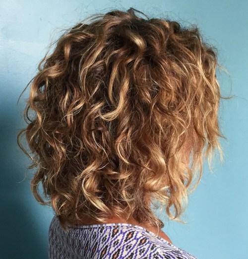 Voluminous Curly Long Bob