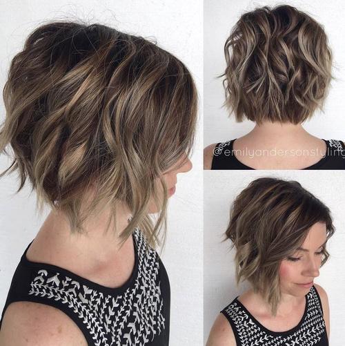 Short Wavy Haircuts For Thick Hair