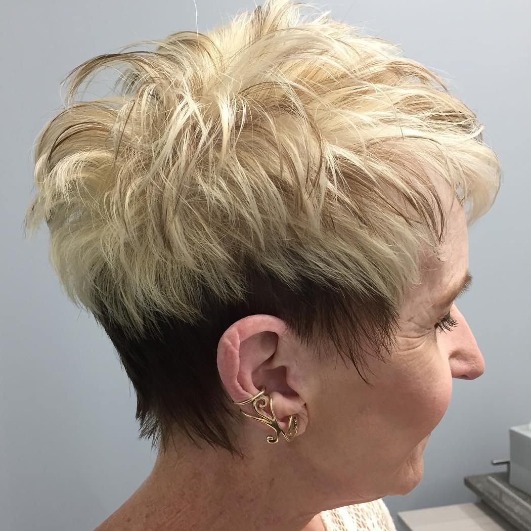 Short haircuts mature women