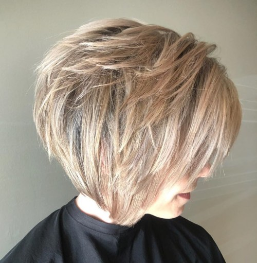 Piece-Y Short Shaggy Bob