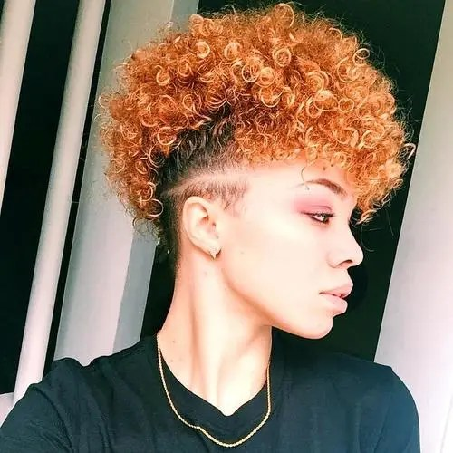 red natural hair mohawk