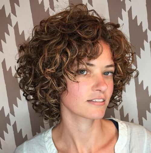 Cute Curly Hair Bob
