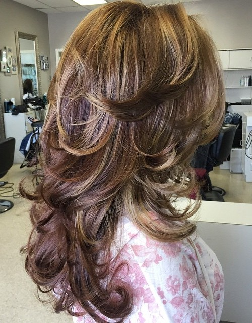 Long Layered Flicked Hairstyle