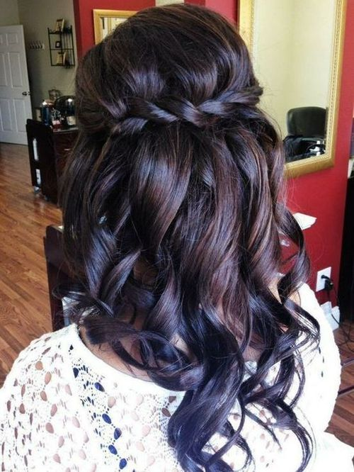 Loose Curls and Waterfall Twist