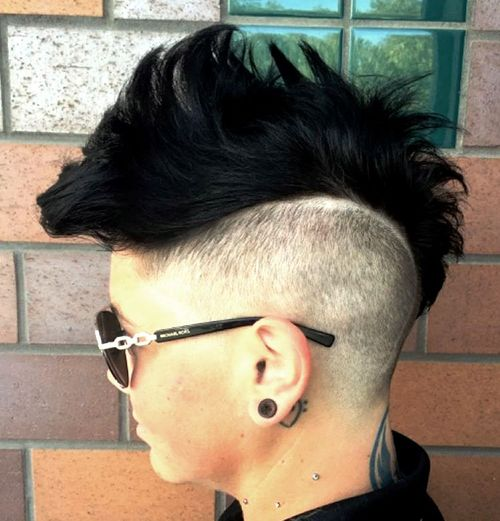 spiky black mohawk for women