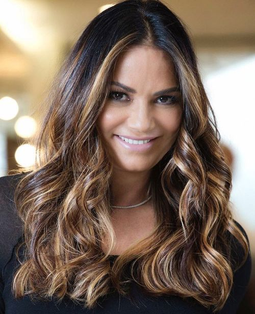 Black Hair With Brown Blonde Balayage
