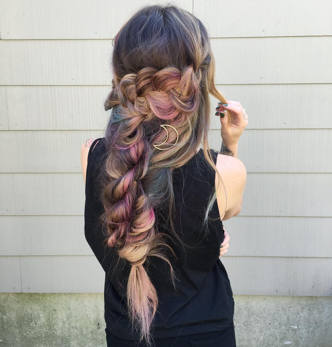 Long Messy Boho Braid