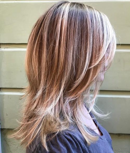 Mid-Length Shag For Straight Hair