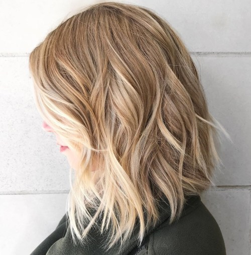 Beachy Shoulder Length Lob