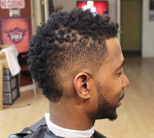 natural hair fade haircut