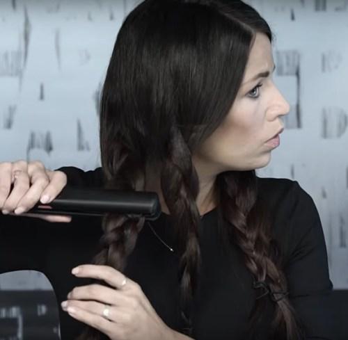Flat Ironing Braids