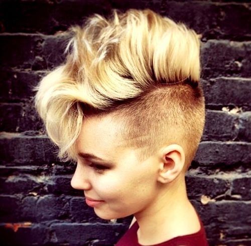 long top blonde mohawk for girls