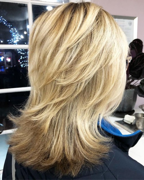 Shaggy Haircut With Flipped Up Layers