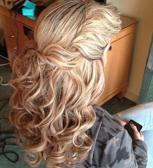 nice haircuts for curly hair 60 most magnetizing hairstyles for thick wavy hair 3586 | 9 twist and pin half up hairstyle