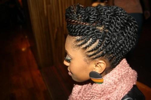 Strange 5 Super Creative Updo Hairstyles For Black Women African Curls Hairstyles For Men Maxibearus