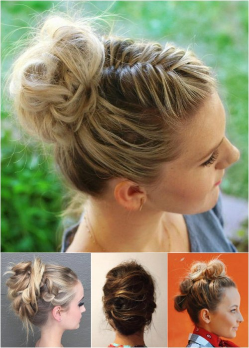messy knots and rolls updos