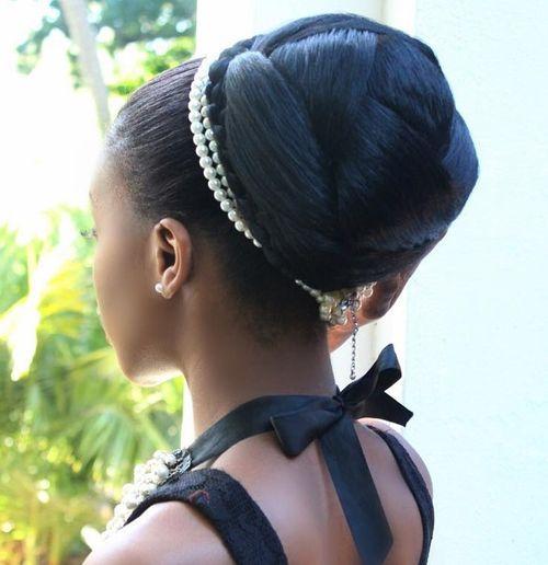 Formal Sleek Bun For Black Women