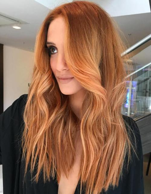 Light copper blonde hair color