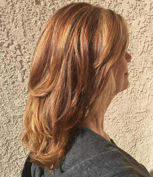 Medium Auburn Layered Hairstyle 40+