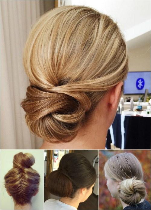 54 Easy Updo Hairstyles For Medium Length Hair In 2017
