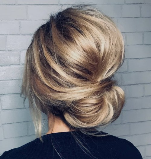 Bouffant Updo With Bangs