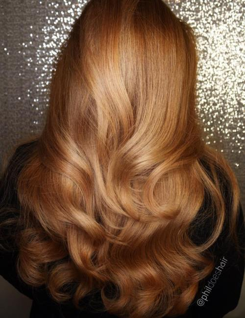 golden brown hair styles 40 fresh trendy ideas for copper hair color 5558 | 12 long golden blonde hairstyle