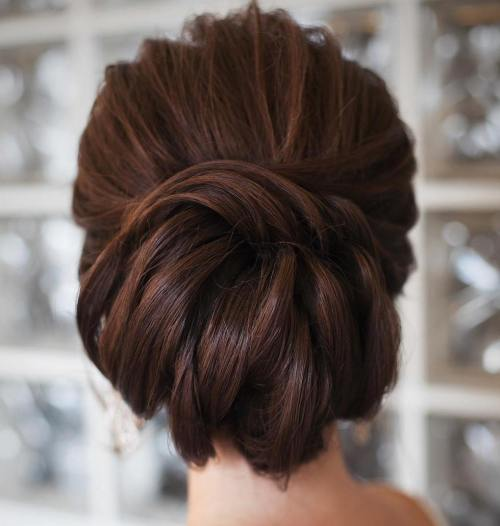 Formal Chignon With A Twist