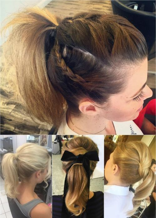 ponytail hairstyles for medium length hair