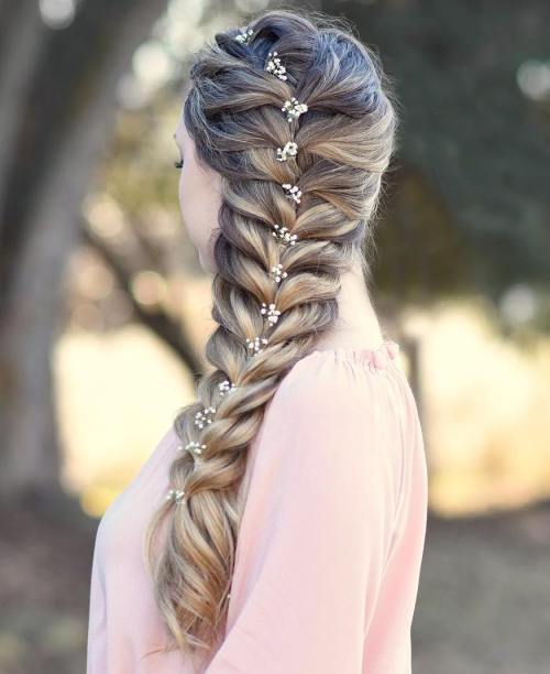 Formal Side Braid For Long Hair