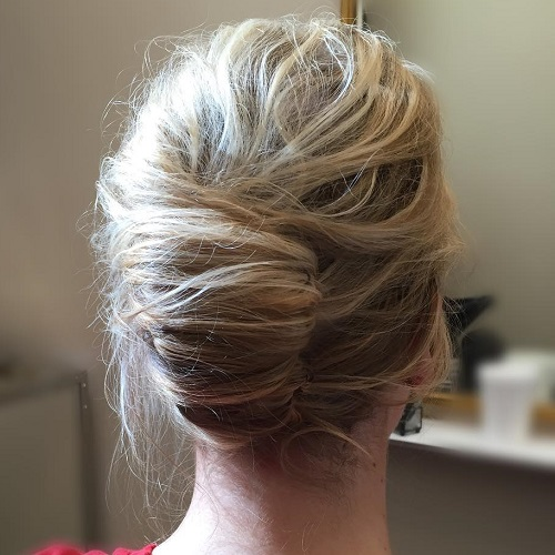 Messy Blonde French Roll