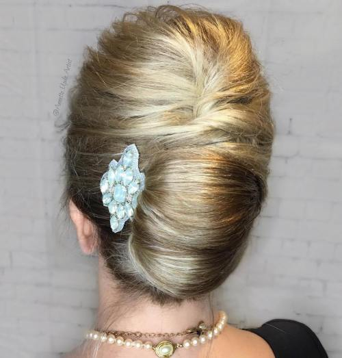 French Roll Updo