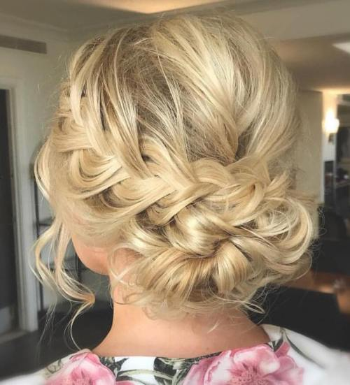 Loose Braid And Up Do: 60 Easy Updo Hairstyles For Medium Length Hair In 2018
