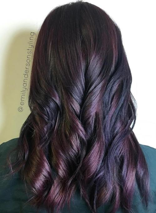 Black And Mahogany Hair