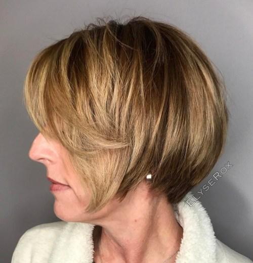 Short Balayage Hairstyle Over 40