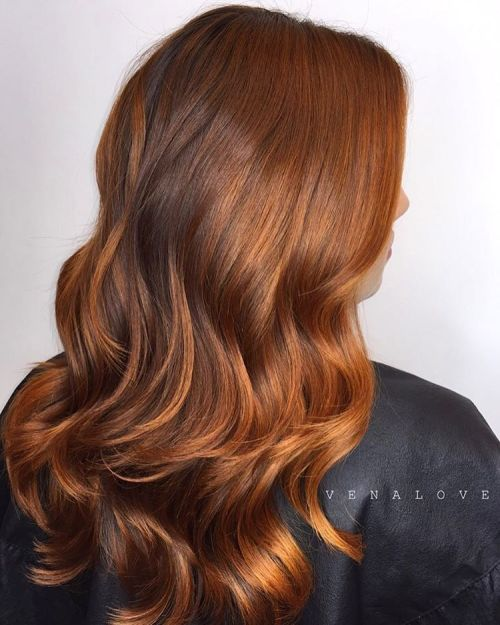 Wavy Copper Brown Hair
