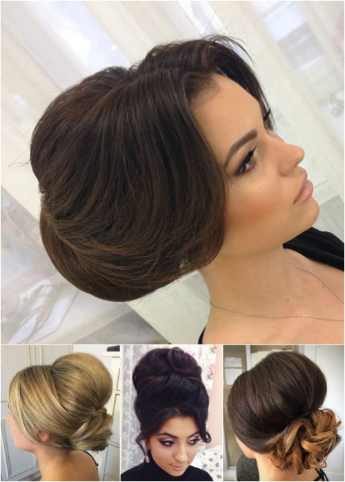 60 easy updo hairstyles for medium length hair in 2017 formal updos with a bouffant urmus Gallery