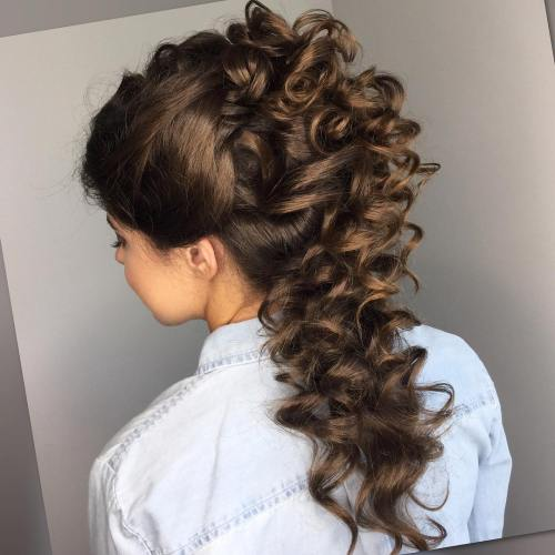 Curly Half Up Half Down Hairstyle