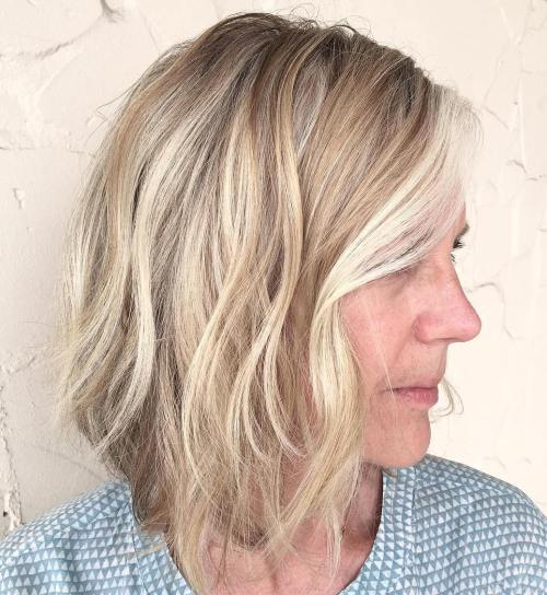 Wavy Bob For Women Over 40
