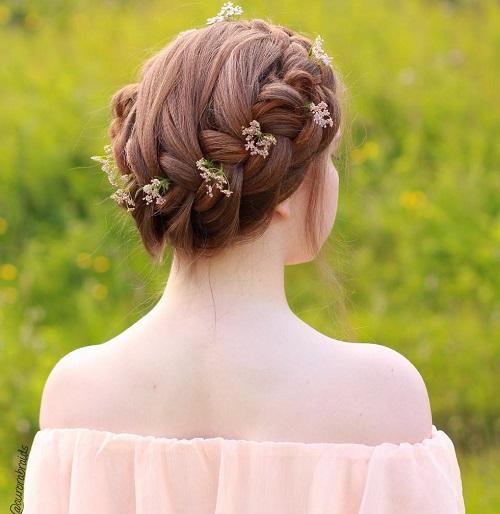 Cool Crown Braid Updo For Teens
