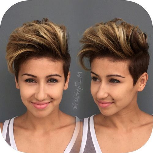 long top short sides haircut for girls